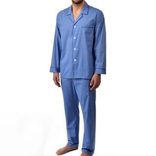 Majestic Men's Big and Tall Cotton Basics Longsleeve Pajama Set