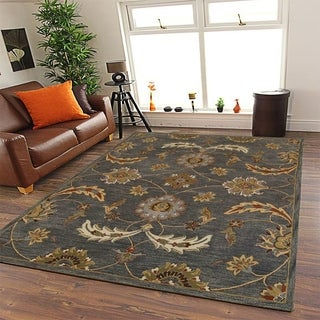 Integrity 'Wounded Warrior Donator' Charcoal Hand-crafted LR12017 Rug (7'9 x 9'9)