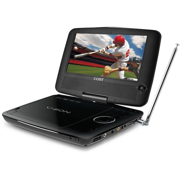 Coby 7-inch Black Portable DVD Player (Refurbished)