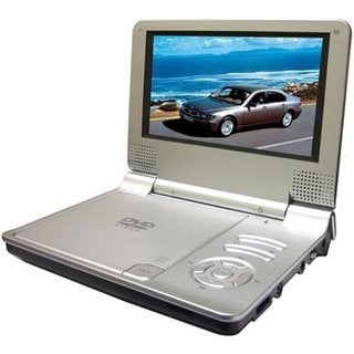 7-inch Silver Portable Battery Powered DVD Player with Remote (Refurbished)