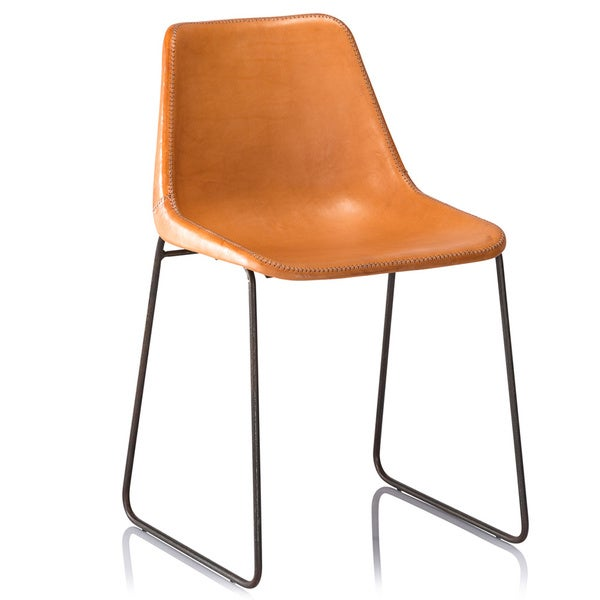 Hudson Leather Dining Chair Tan