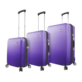 Mia Toro Italy Fibre Di Scatola 3-piece Expandable Hardside Spinner Luggage Set
