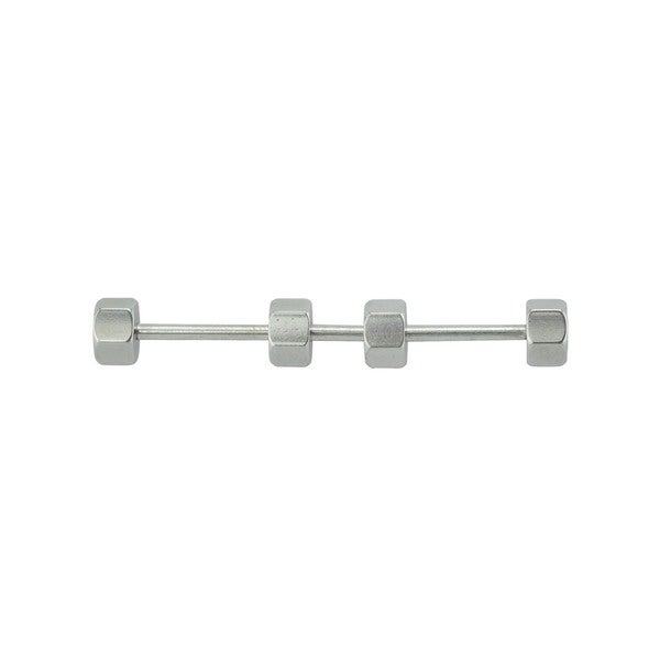 Supreme Jewelry Industrial Barbell Surgicak Steel with 4 Hexagon