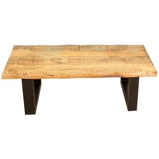 Porter Reclaimed Hardwood Rectangle Cocktail Table (India)