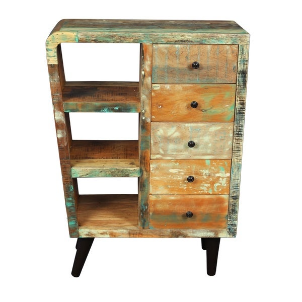 Route 66 Sideboard End Table with Five Drawers (India)