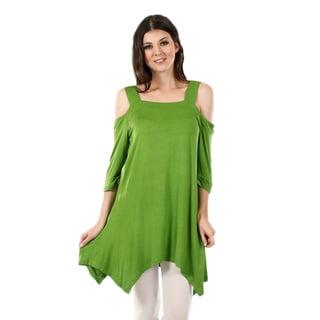 Firmiana Women's 3/4-Length Sleeve Sidetail Tunic