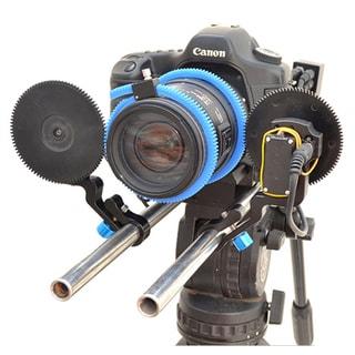 Pro-aim E-Focus DSLR (EF-DSLR) Pro Zoom Follow Focus Control & Battery