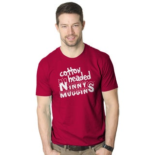 Men's Cotton Headed Ninny Muggins Funny Christmas Red Cotton T-shirt