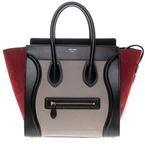 Celine Colorblock Luggage Tote Handbag