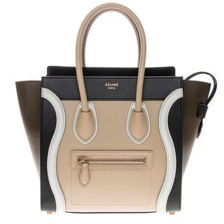 Celine Color Block Micro Luggage Tote