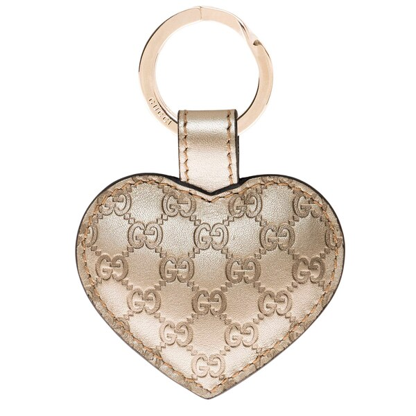 Gucci Heart Gold Key Ring