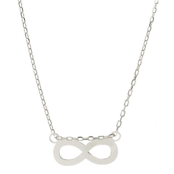 Pori. Sterling Silver Infinity Pendant Necklace