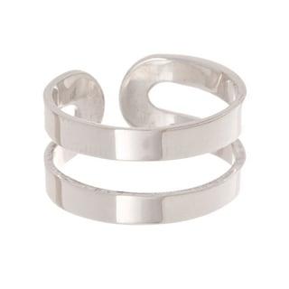 Pori Sterling Silver 2-Bar Cuff Ring
