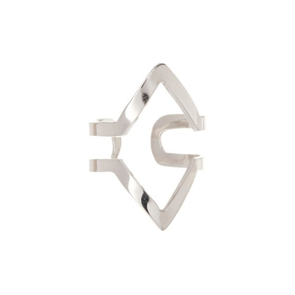 Pori Sterling Silver Arrow Cuff Ring