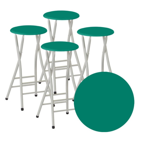 Best of Times Classic Colors Padded Bar Stools (Set of 4)