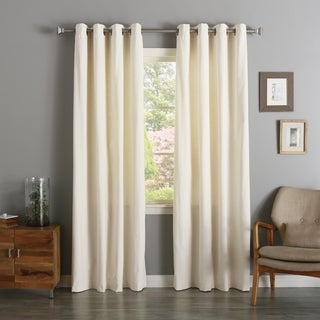 Aurora Home Vintage Cotton Velvet Grommet Top Curtain Panel Pair