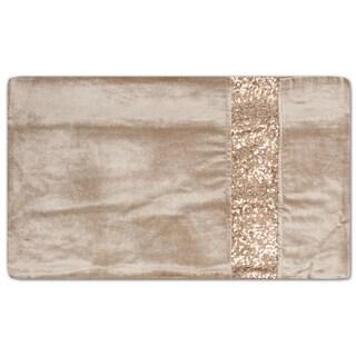 Velvet Sequin Stripe Decorative Throw Pillow Shell