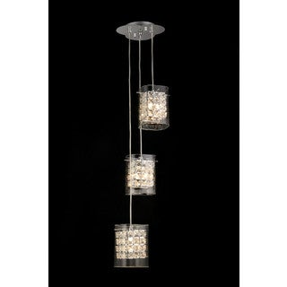 Austin 3-light Adjustable Cord Crystal Chandelier