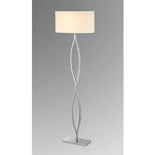 Zoey 1-light White 54-inch Chrome Base Floor Lamp