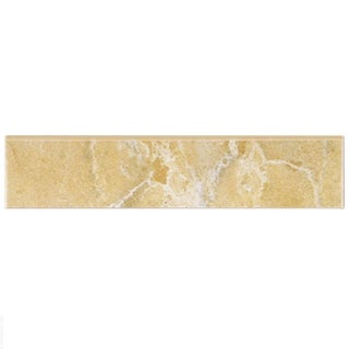 SomerTile 2x8-inch Callista Arena Ceramic Bullnose Trim Wall Tile (Pack of 20)