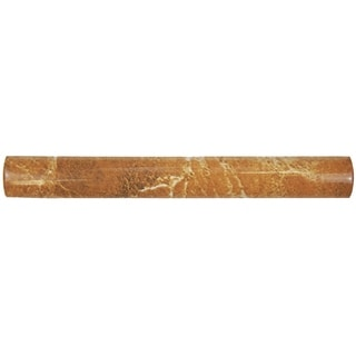 SomerTile 1x8-inch Callista Arena Beige Ceramic Pencil Trim Wall Tile (Pack of 15)