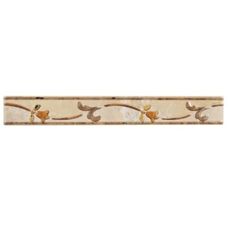 SomerTile 1.5x11.75-inch Callista Arena Ceramic Listello Trim Wall Tile (Pack of 8)