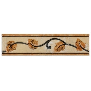 SomerTile 2x8-inch Callista Arena Ceramic Listello Trim Wall Tile (Pack of 10)