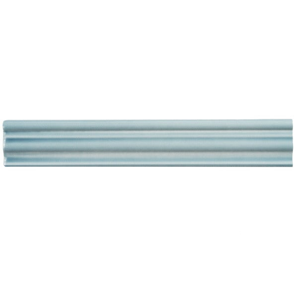 SomerTile 2x12-inch Gloucester Aqua Ceramic Chair Rail Trim Wall Tile (Pack of 3)