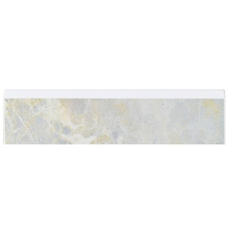 SomerTile 2x8-inch Callista Gris Ceramic Bullnose Trim Wall Tile (Pack of 20)