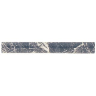 SomerTile 1x8-inch Callista Gris Ceramic Cigarro Trim Wall Tile (Pack of 15)