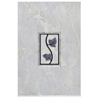 SomerTile 8x12-inch Callista Gris Ceramic Décor Wall Tile (Pack of 5)