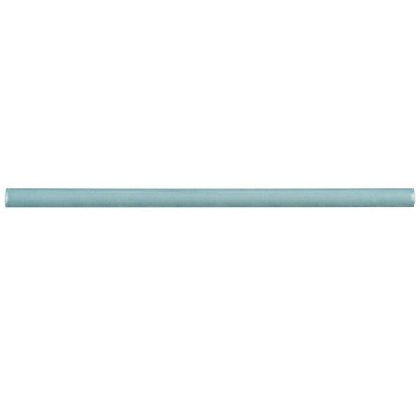 SomerTile .5x12-inch Gloucester Aqua Ceramic Demi-Bullnose Trim Wall Tile (Pack of 5)