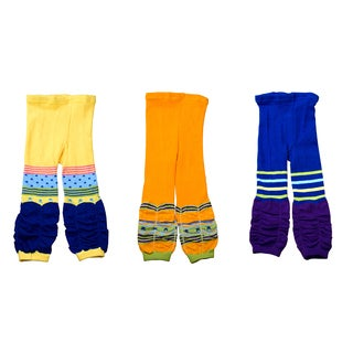 Crummy Bunny Kids Colorful Leggings (Set of 3)