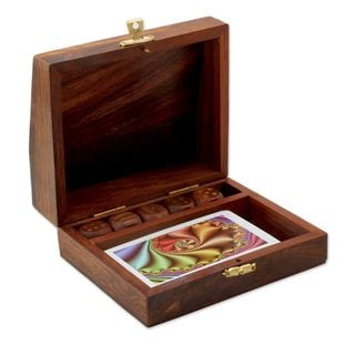 Handcrafted Seesham Wood 'Jackpot' Game Set (India)