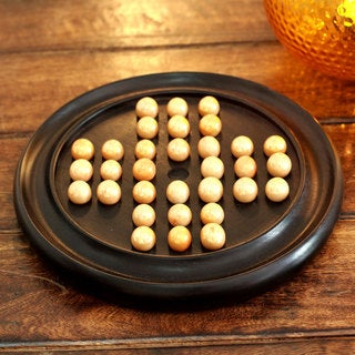 Handcrafted Sheesham Wood 'Classic Challenge' Solitaire Game (India)