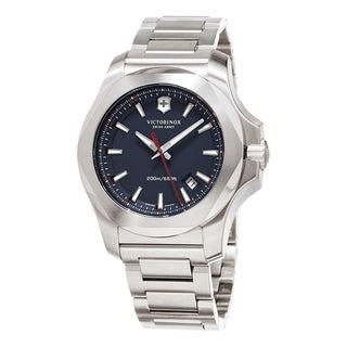 Swiss Army Men's 241724.1 'Inox ' Blue Dial Stainless Steel Bracelet Swiss Quartz Watch