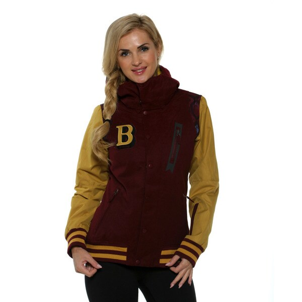 Billabong Women's Black Cherry City 10K Varsity Inspired Snowboard Jacket