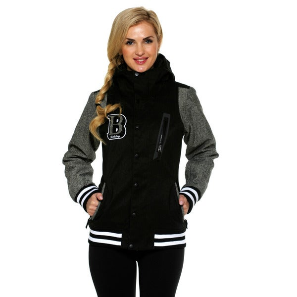 Billabong Women's Black City 10K Varsity Inspired Snowboard Jacket