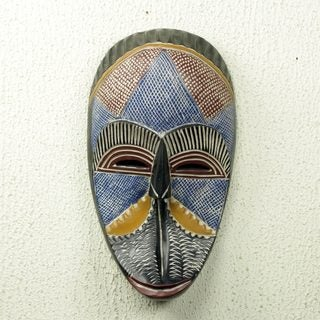 Handcrafted Sese Wood 'Monkey Face' Mask (Ghana)