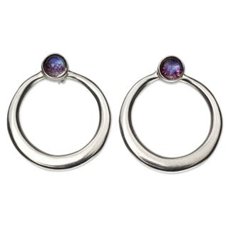 Sterling Silver 'Mysterious Cosmos' Labradorite Earrings (Mexico)