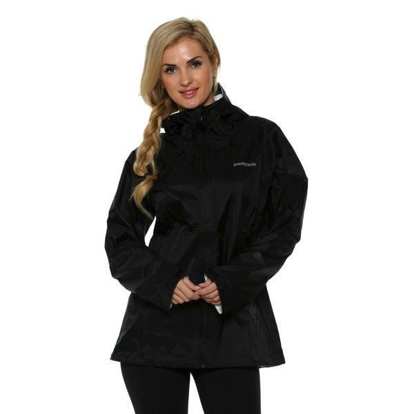 Patagonia Women's Torrentshell Black Jacket (XL)