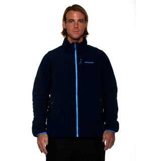 Patagonia Men's Navy Blue with Underwater Blue Nano Air Jacket