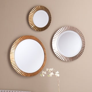 Upton Home Luka Round Wall Mirror 3-piece Set