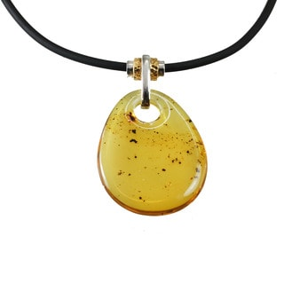 One-of-a-kind Micheal Valitutti Silver Amber Men's Pendant