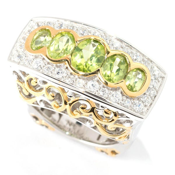 One-of-a-kind Michael Valitutti Peridot & White Sapphire Ring