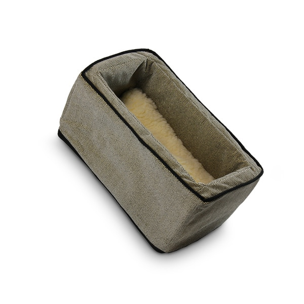 Snoozer Console Pet Car Seat Box Herringbone