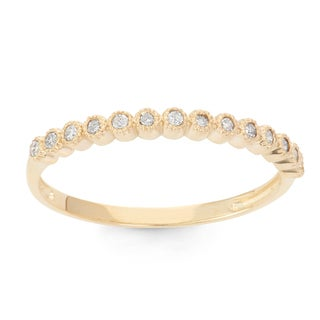 Gioelli 10k Gold 1/6ct TDW Diamond Eternity Stackable Ring (H-I, I1-I2)