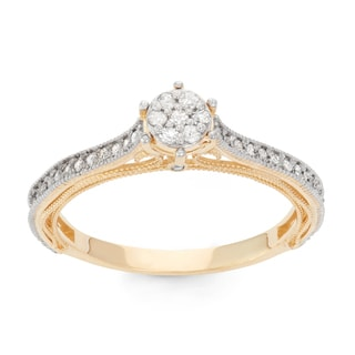 David Tutera 10k Gold 1/4ct TDW Diamond Ring (H-I, I1-I2)
