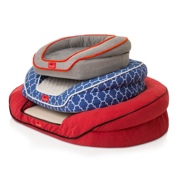 BRINDLE Premium Waterproof Memory Foam Bolster Pet Bed