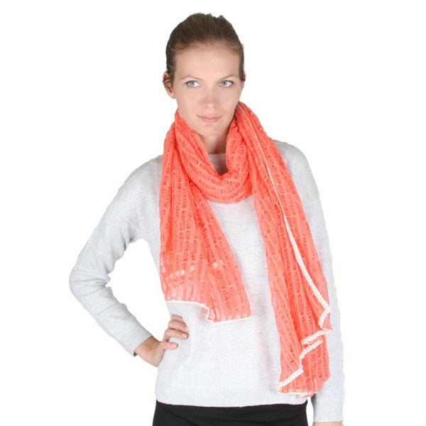 Lightweight Mesh Net Long Scarf